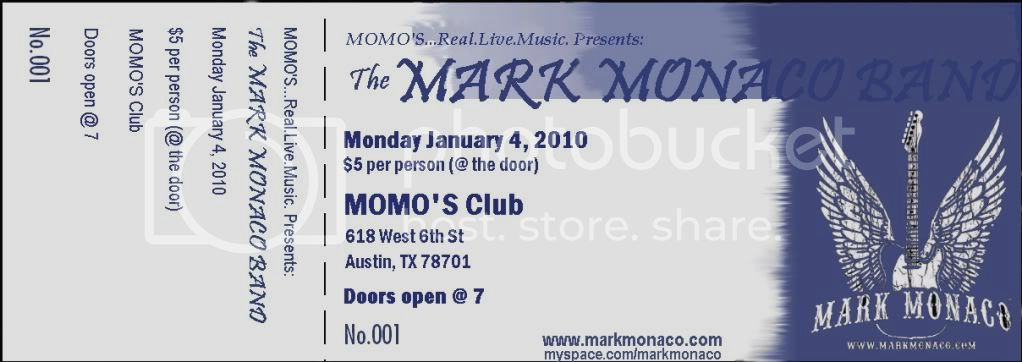 Mark Monaco at MOMO'S